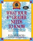 What Your Sixth Grader Needs to Know Fundamentals of a Good Sixth Gra ExLibrary