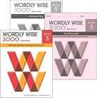 Wordly Wise 3000 Grade 5 SET Student Key and Tests NEW 3rd edition