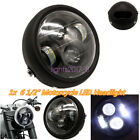 White Light LED 6 1 2 Motorcycle Projector Daymaker Headlight Lamp Cafe Racer