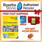 NEW Rosetta Stone FULL COURSE LIFETIME DOWNLOAD JAPANESE DICTIONARY GIFT BUNDLE