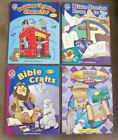 Education Christian Workbooks Lot of 4 Bible Crafts Stories Brain Teasers
