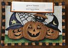 Grace Linens Set of 4 Fall Halloween Pumpkins Tapestry Placemats NEW w Tags