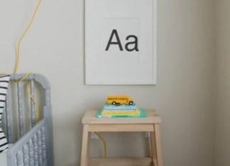 DIY IKEA STOOL NIGHTSTAND