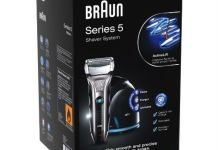 The Braun Series 5 590cc electric razor