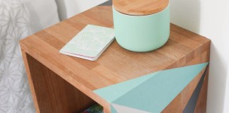FLOATING DIY NIGHTSTAND WITH TEAL COLOR ACCENTS