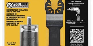 Dewalt Oscillating Tool-Free Adapter