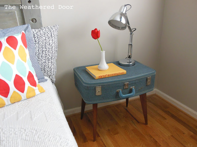 Beautiful BUILD A DIY SUITCASE SIDE TABLE.