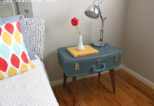 BUILD A DIY SUITCASE SIDE TABLE.