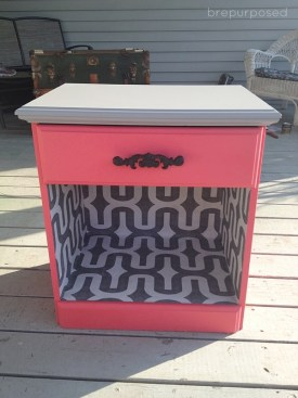 Done! CORAL NIGHTSTAND