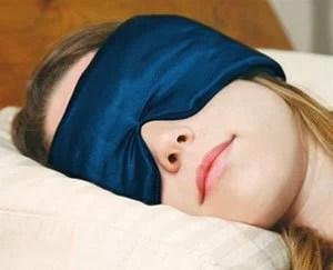 With an eye Sleep Mask, comfortable