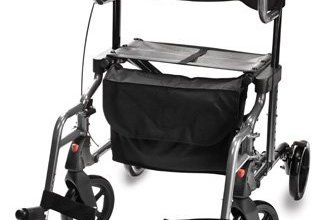 Hybrid rollator transport chair that combines the functions of both a rollator and transport chair