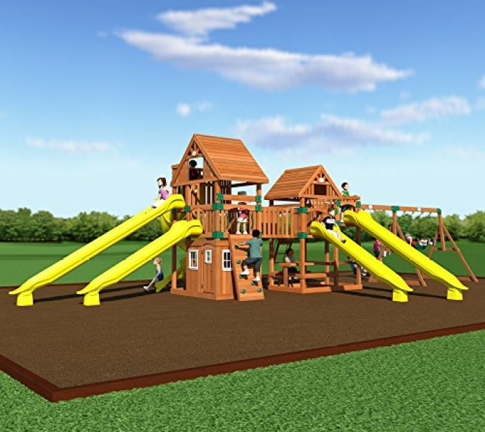 Backyard Odyssey Safari Cedar Swing
