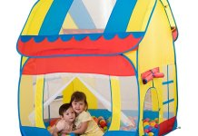 Kids Big Playhut Outdoor Indoor Fun Play Tent House Pop Hut Play Pit Balls pool