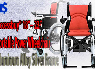 Accessbuy's Portable Power Wheelchair Aluminum Alloy