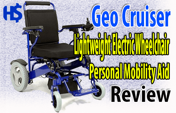 Geo Cruiser Lightweight Electric Wheelchair, Personal Mobility Aid