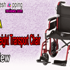 Transport Wheelchair Nova White Sofa Chair Lightweight Review Bestter Choices W 12 Rear Wheels