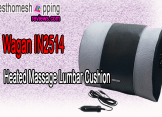 Wagan IN2514 Heated Massage Lumbar Cushion