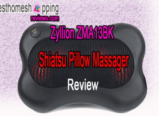 Zyllion ZMA13BK Shiatsu Pillow Massager Review