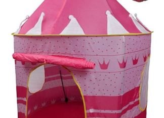 POCO DIVO Crown Princess Castle Girls Outdoor Tent Pink