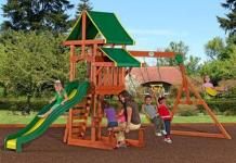 Tucson All Cedar Wood Playset Swing Set