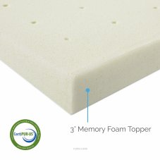 LUCID Ventilated Memory Foam Mattress Topper Review