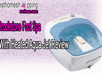 Brookstone Foot Spa With Heated Aqua-Jet Review
