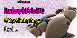 Kahuna Massage Chair Recliner LM6800 W/ Yoga & Heating Therapy