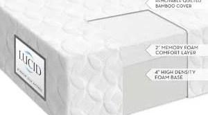LUCID 6 Inch Memory Foam Mattress Firm Feel Review