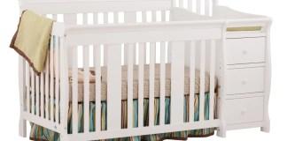 Stork Craft Portofino 4-IN-1 Fixed Side Convertible Crib
