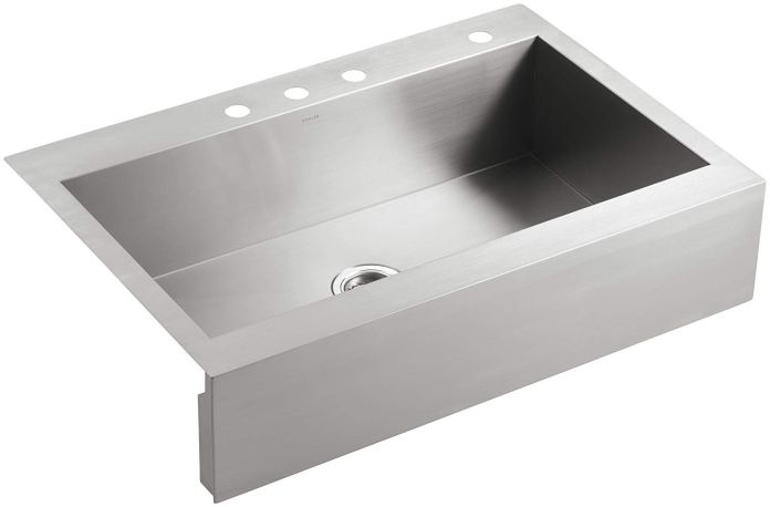 best single bowl kitchen sink by KOHLER K-3942-4-NA