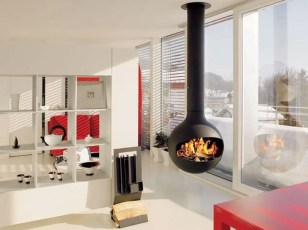 Beautiful Modern Fireplaces For Winter Design Ideas33