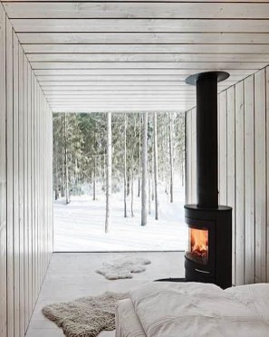 Beautiful Modern Fireplaces For Winter Design Ideas38