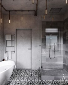 Amazing Industrial Bathroom Decorating Ideas For Your Inspiration31