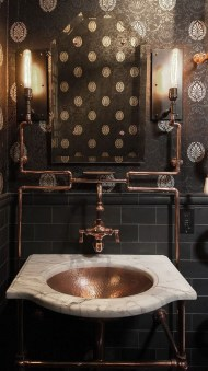 Amazing Industrial Bathroom Decorating Ideas For Your Inspiration41
