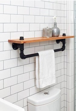 Amazing Industrial Bathroom Decorating Ideas For Your Inspiration44