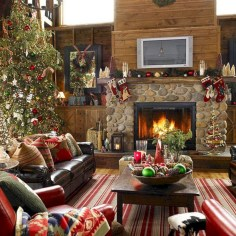 Best Christmas Living Room Decoration Ideas For Your Home03