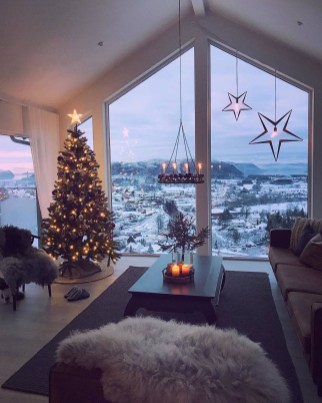 Best Christmas Living Room Decoration Ideas For Your Home07