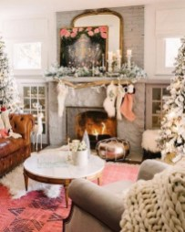 Best Christmas Living Room Decoration Ideas For Your Home13