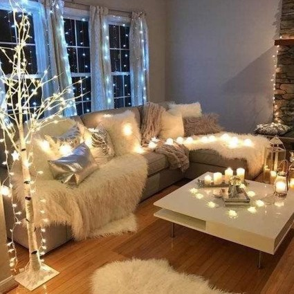 Best Christmas Living Room Decoration Ideas For Your Home15