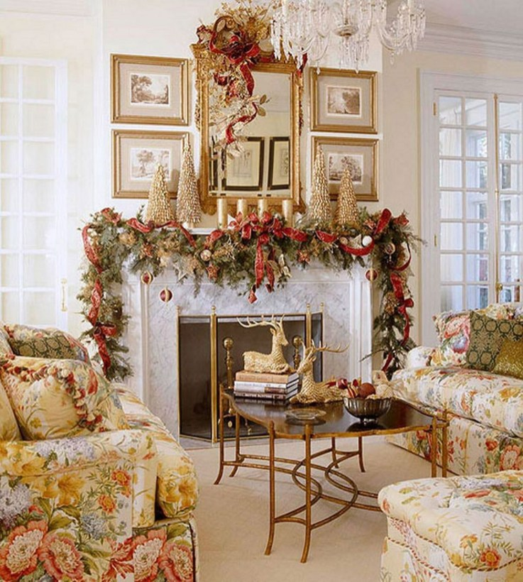 Best Christmas Living Room Decoration Ideas For Your Home17