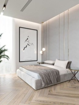 Chic And Warm Minimalist Bedroom Interior Ideas For Feel Comfort25