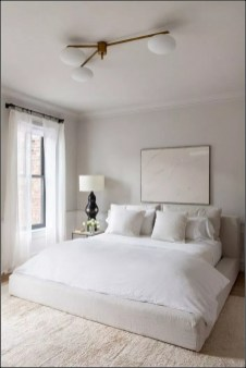 Chic And Warm Minimalist Bedroom Interior Ideas For Feel Comfort36