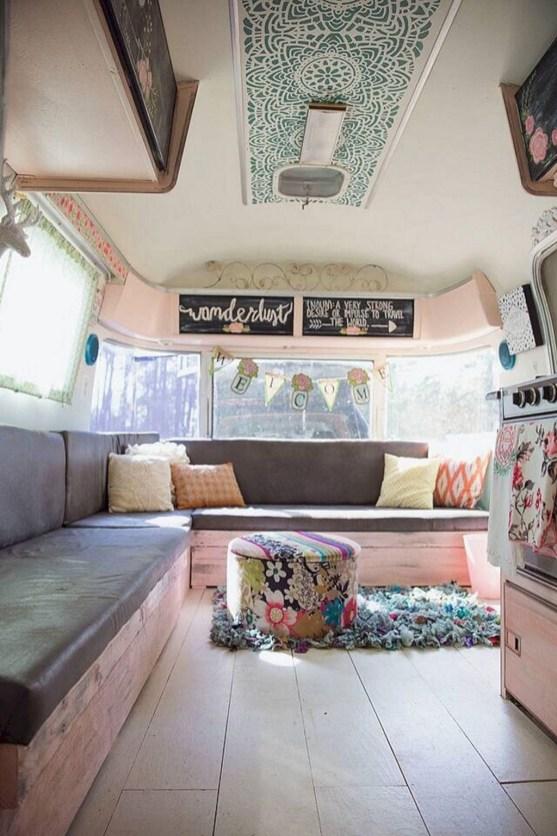 Elegant Airstream Decorating Ideas For Comfortable Holidays Trip46