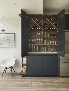 Gorgeous Minibar Designs Ideas For Your Kitchen26