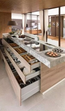 Island Kitchen Design Ideas Attractive For Comfortable Cooking27