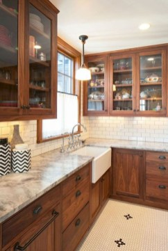 Awesome Farmhouse Kitchen Cabinet Design Ideas You Should Know That26
