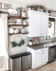 Awesome Farmhouse Kitchen Cabinet Design Ideas You Should Know That29
