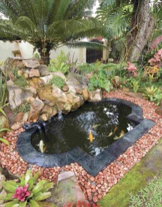 Fabulous Fish Pond Design Ideas For Your Home Yard13