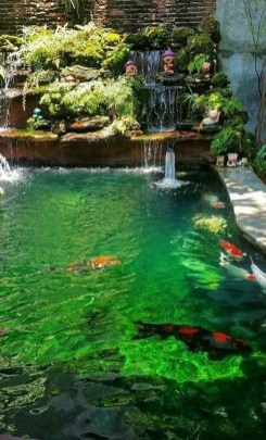 Fabulous Fish Pond Design Ideas For Your Home Yard16