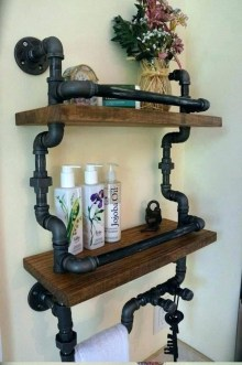 Industrial Bathroom Shelves Design Ideas03